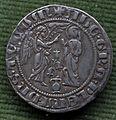 Zecca di napoli, carlino o saluto di carlo d'angiò, 1278-85, argento.JPG