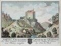 Zentralbibliothek Solothurn - SCHLOSS GILGENBERG In dem Canton Solothurn von Mittag anzusehen Wappen CHÂTEAU DE GILGENBERG Dans le Canton de Soleure du Côté du Midi - a0196.tif