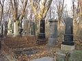 Zentralfriedhof Vienna - graves and vaults in autumn (November 2004).JPG