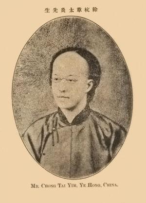 Zhang Binglin - Image: Zhangtaiyan 1899