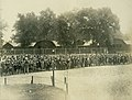 """""""Oh, so anxious!"""" A crowd of children wait their turn to get into Fairgrounds Park pool.jpg"""