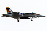 'Mace 200' F-A-18E(Block2) New CAG Bird on final for R-W19(2). (8584437027).jpg