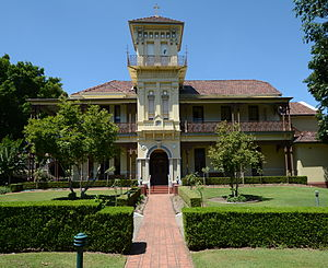 """Auburn, New South Wales - Duncraggarn Hall, a historical house now part of the """"St Joseph's Village"""" retirement village"""