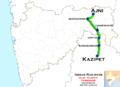 (Kazipet - Ajni) Passenger route map.png