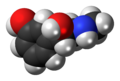 (S)-Phenylephrine molecule spacefill.png