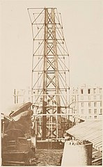 (Scaffolding for the assemblage of the Statue of Liberty, of - (3109310735).jpg