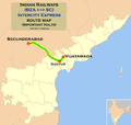 (Vijayawada - Secunderabad) Intercity Express route map.png