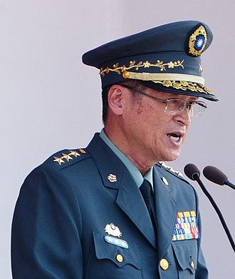 Yen Teh-fa - Image: (cropped) Chief of the ROCA General Yen Teh fa Opening Speech in ROCMA Open Day 20140531