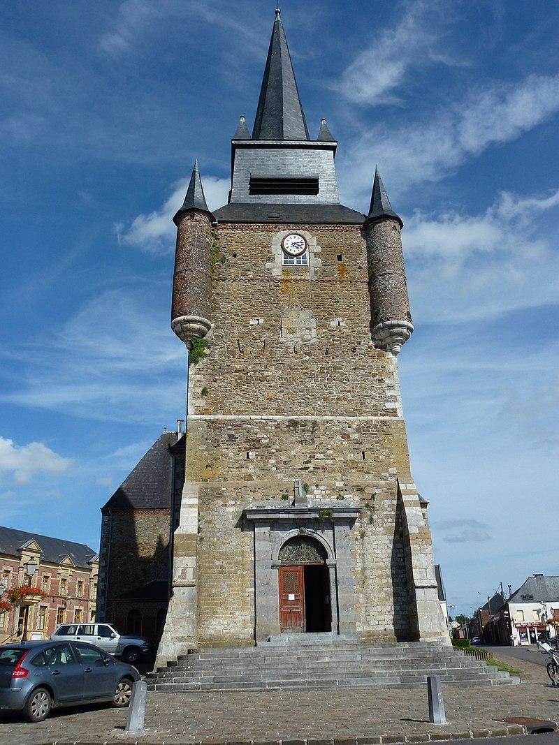 Église Saint-Nicolas de Signy-le-Petit, tour vue de l'ouest.JPG