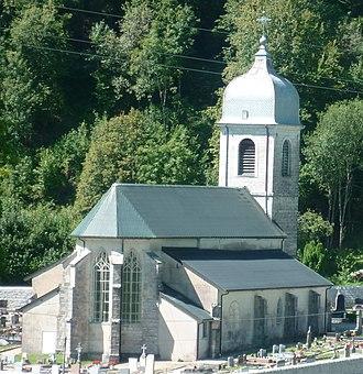 Chaux-des-Crotenay - Image: Église Ste Marguerite de Chaux des Crotenay, Jura, France (recadrée)