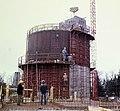 Épül az új Tv adótorony, háttérben az 1958-ban épült antenna torony. Fortepan 99224.jpg