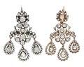 Örhängen med briljanter, 1700-tal - Hallwylska museet - 110487.tif