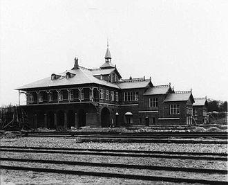Østerport Station - Image: Østerport Station 1896 or 1897 by Elfelt