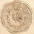 Žygimont Vaza, Pahonia. Жыгімонт Ваза, Пагоня (1599).jpg