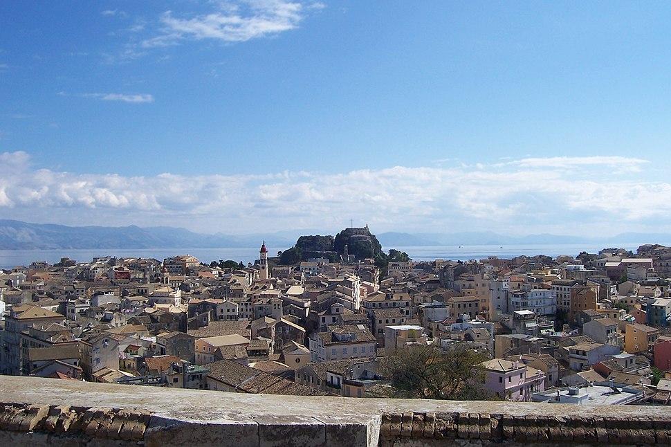 Παλιό Φρούριο και Παλιά Πόλη από το Νέο Φρούριο