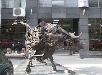 Bulgarian Stock Exchange – Sofia - Bull in front of the Bulgarian Stock Exchange