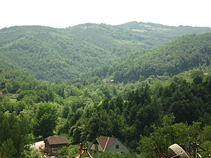 Šumadija - Gledić Mountains in southern Šumadija.