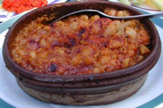 Macedonian cuisine - Tavče-gravče, the national dish of Macedonia.
