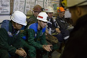 "Alrosa - Miners, ""International"" underground mine,Mirny, Yakutia"