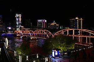 兰州中山桥夜间北河岸.jpg