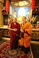 大寶法王噶瑪巴與大會主席 堪祖蔣康仁波切 - HH 17th Karmapa and the Chairman, Khentrul Gyang Khang Rinpoche (12483189874).jpg