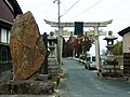 比賣久波神社の鳥居 川西町唐院 Shrine gate of Himekuwa-jinja 2012.2.05 - panoramio.jpg