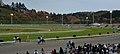 盛岡競馬場の芝コースへ競走馬が入場する動線(2014年11月3日).JPG