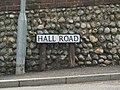 -2019-09-28 Street name sign, Hall Road, Cromer.JPG