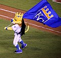 -WorldSeries Game 2- Sluggerrr celebrates (22841624045).jpg