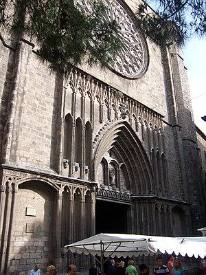 Santa Maria del Pi, Barcelona - Main façade of Santa Maria del Pi.