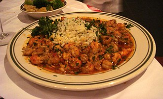 Louisiana Creole people - Crawfish étouffée, a Creole dish