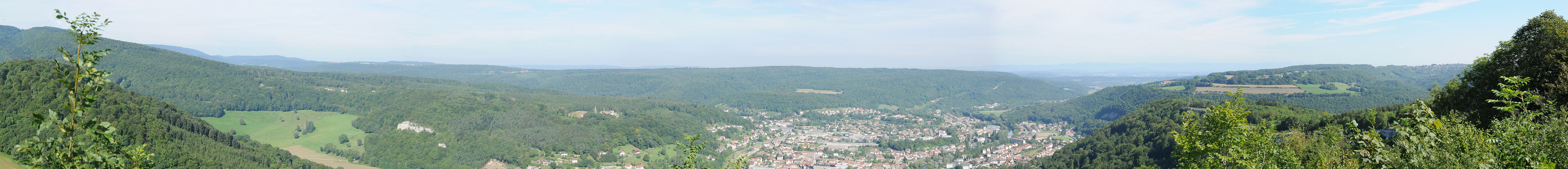 This file was uploaded  with Commonist.    Batterie des Roches: Panorama.