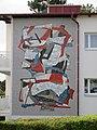 1190 Wenckebachgasse 49 An der langen Lüssen - Mosaikwandbild Abstraktion von Walter Eckert 1963 IMG 1039.jpg