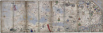 Abraham Cresques - Montage of 8 pages of the Catalan Atlas