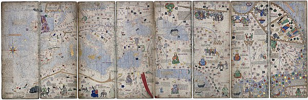 Atlas from the 14th century attributed to Abraham Cresques