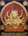 17th century Central Tibeten thanka of Guhyasamaja Akshobhyavajra, Rubin Museum of Art2.png