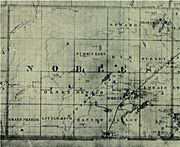 1874 map of Nobles County, MN