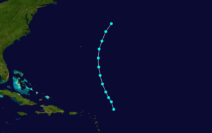 1876 Atlantic hurricane season - Image: 1876 Atlantic tropical storm 3 track