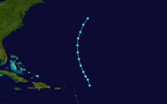 1876 Atlantic hurricane season - Image: 1876 Atlantic tropical storm 3 track