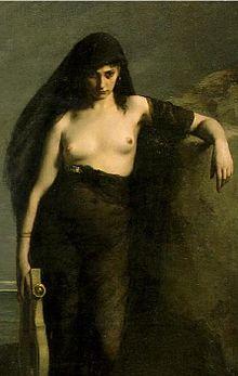 Sappho, por Charles Mengin (1877)
