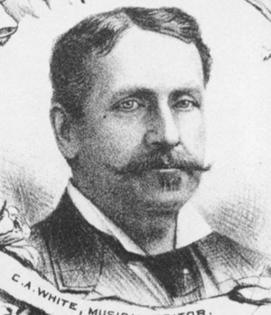 White, Smith & Company - Charles A. White depicted in 1881 in Folio.
