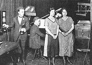 WABC (AM) - Image: 1922 WJZ Newark radio studio