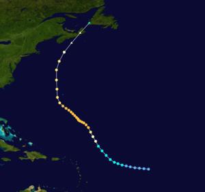 1926 Nova Scotia hurricane - Image: 1926 Atlantic hurricane 2 track