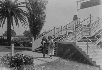Randwick Racecourse - The racecourse tramway exit bridge in 1952.
