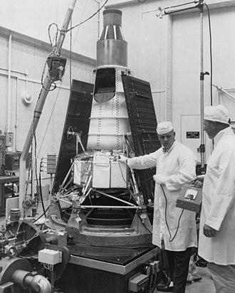 Ranger 6 - Ranger 6 in the Jet Propulsion Laboratory, Pasadena, California.