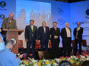 Veysel Eroğlu - Veysel Eroğlu during the inaugural ceremony of the 1st World Irrigation Forum (standing left in the group).