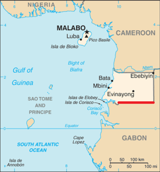 1st parallel north - The 1st parallel north defines most of Equatorial Guinea's southern border with Gabon.