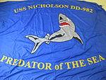 2002-88-32, Flag, Ship, USS NICHOLSON DD-982 (6130377725).jpg