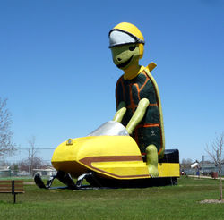 """Tommy Turtle"", symbol of Bottineau"