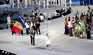 Andorra at the 2010 Winter Olympics - The athletes entering the stadium during the opening ceremonies.